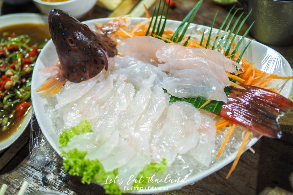 ปลากุดสลาด ปลาเก๋าจุดฟ้า ปลาอุณรุท เล็กหงษ์ข้าวต้มปลา ตลาดพลู