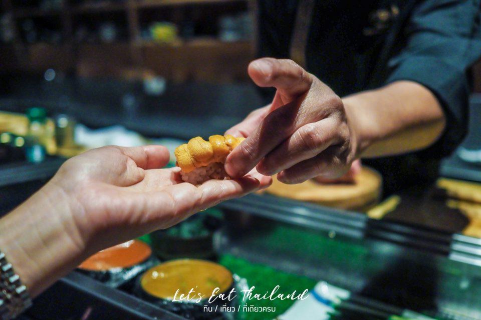 Uni Narabi Bafun YTSB Yellow Tail Sushi Bar Omakase