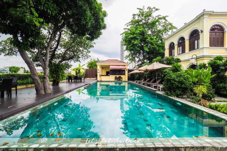 สระว่ายน้ำโรงแรม พระยาพาลาซโซ Praya Palazzo