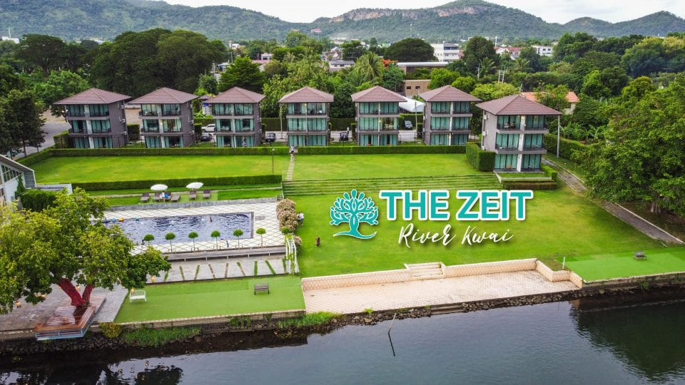 The Zeit River Kwai มุมสูง ริมน้ำ